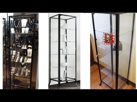 BHG Glass Curio Cabinet Display Showcase Assembly