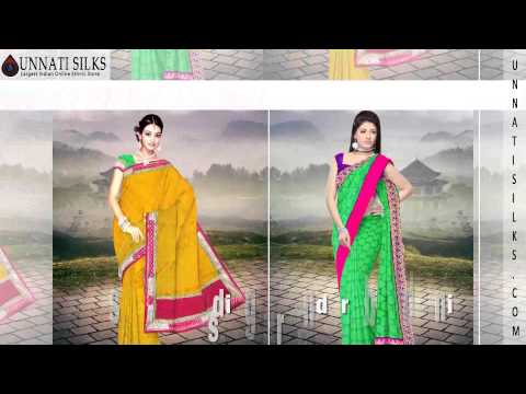 Chanderi sarees online, buy chanderi silk saris, chanderi cotton saree