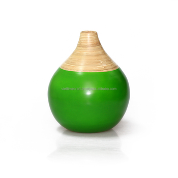 Lacquer Bamboo Floor Vase For Decorationmade In Vietnamwhole Sale