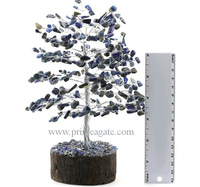 Latest 300 Bds Lapis Lazuli Agate Gemstone Tree for Reiki, Metaphysical, Feng shui & Healings | Prime agate Exports | India