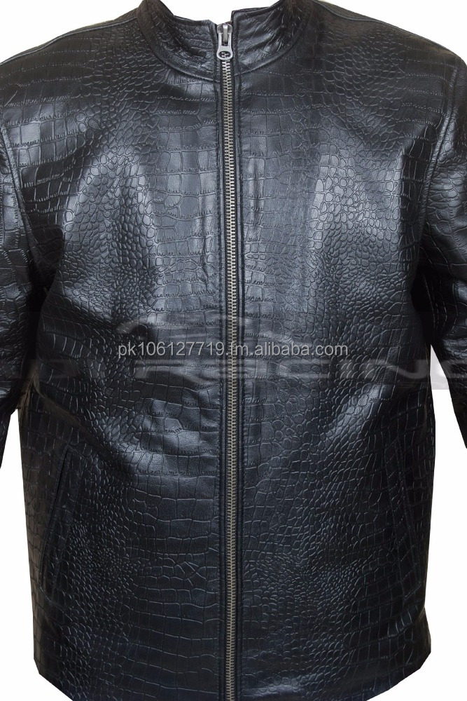 60a4c8678 Italian Handmade Men Leather Slim Fit Jacket Crocodile Black All Sizes  S,M,L,Xl - Buy Original Crocodile Grain Leather Product on Alibaba.com