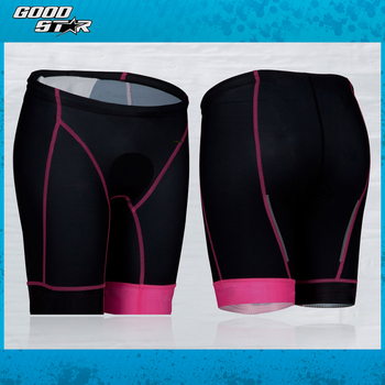 61f8870475 New Design Women Triathlon Short Light Chamois Running Swimming Short Pink