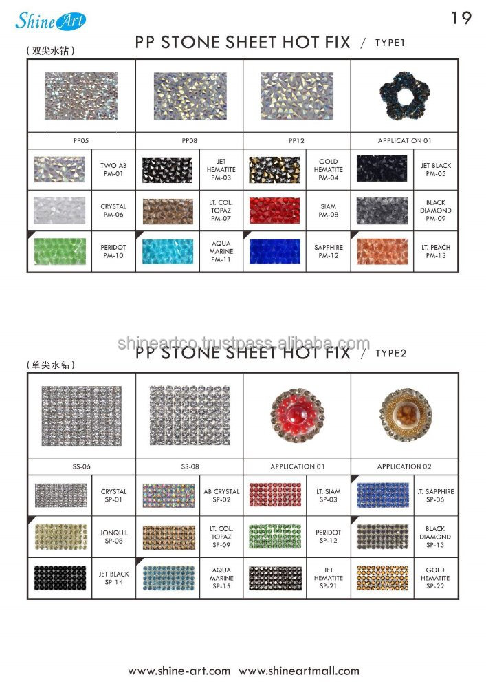 PP Stone Sheet Hot Fix Type 2