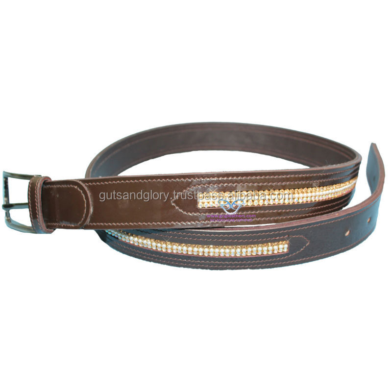 Bling Leather Belt