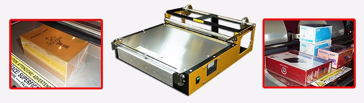 50cm Wide Wrapping Machine for perfume boxes playing cards cigarette box, tea box, cosmetics, soap