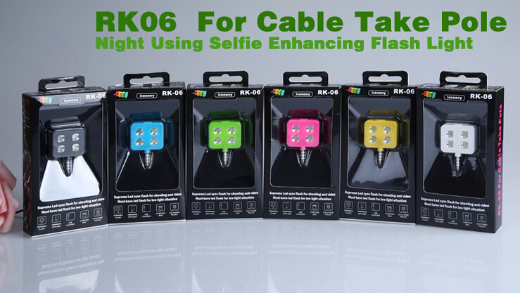 4 LED Selfie Flash for Cameras Phone Fill-in Light Multiple Photography Selfie Sync LED Flash for iPhone Samsung HTC Lenovo DSLR