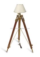 Royal Nautical Hollywood Teak Wood Home Decorative Tripod Lamp ...
