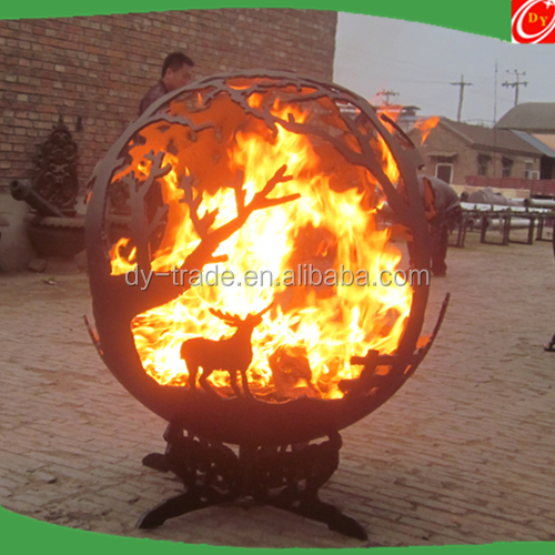 Carbon Steel Fire Globe,Iron Steel Fire Ball