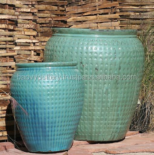 Rotondo satinato esterno in ceramica decorazione ceramica per la casa e gadern vasi da giardino - Vasi in ceramica da esterno ...