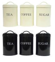 Metal highly Coated tea coffee sugar canisters food canisters