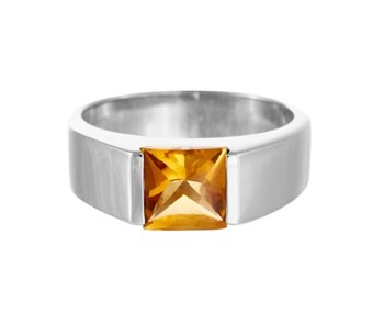 05ce1b312 Gemstone Citrine 2.5 CT Jewelry 925 Silver Sterling 9K White Gold Rings  Size 5-13