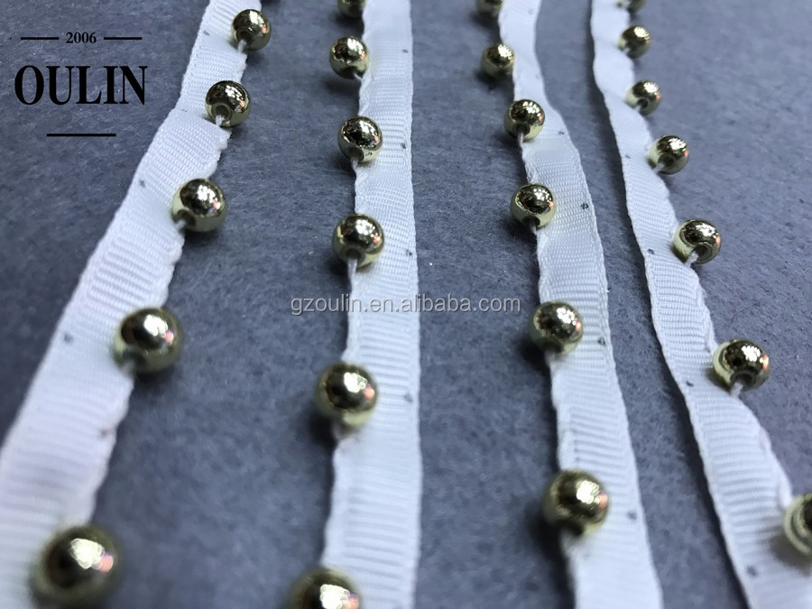 Pearl beaded lace new arrival pearl lace products polyester pearl lace handmade pearl beaded lace