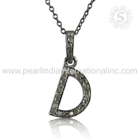 Efficient Diamond Letter D Silver Necklace Wholesale 925 Jewelry Sterling Silver Jewelry Supplier
