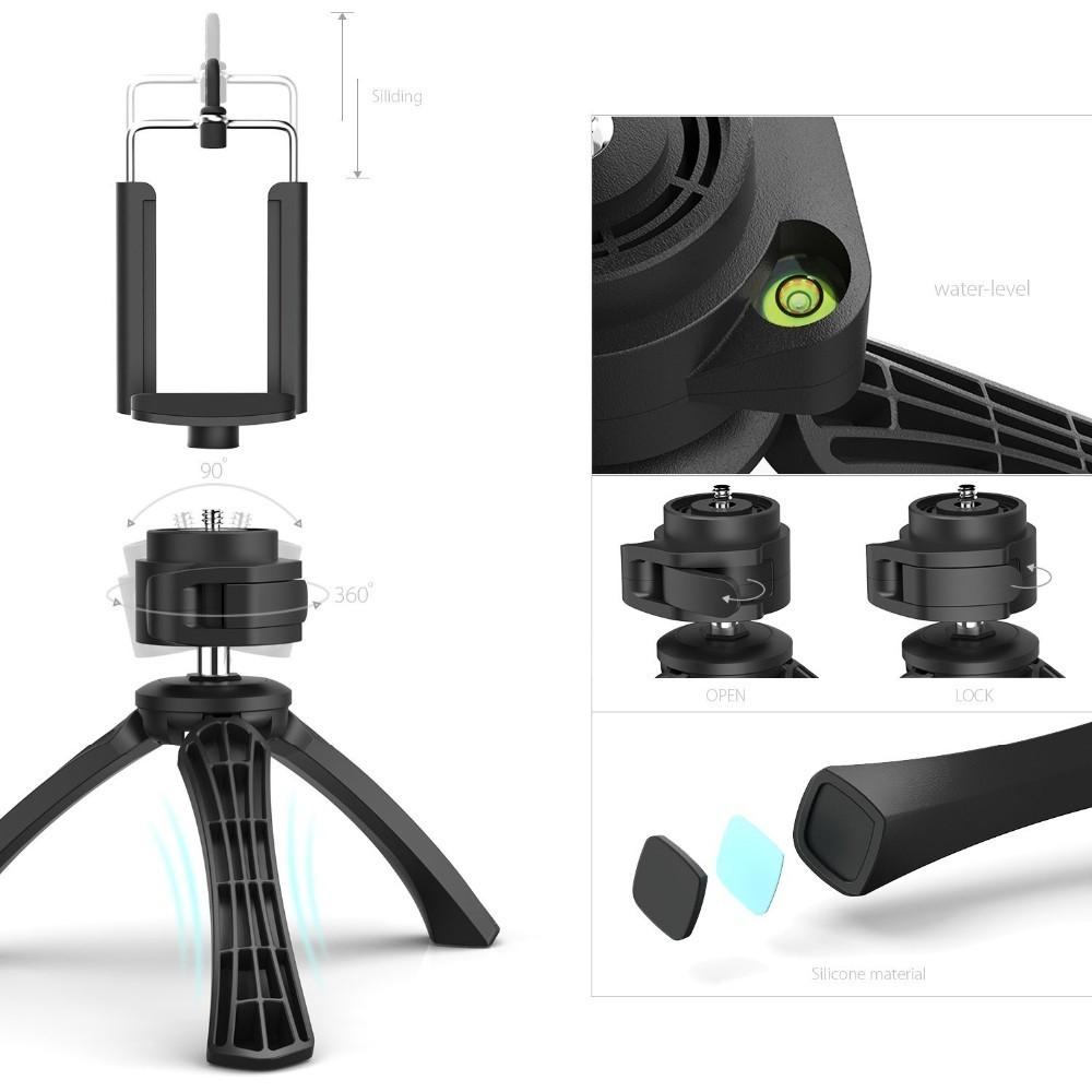 universal selfie tripods flexible cell phone camera selfie stick stand tripod mount adapter. Black Bedroom Furniture Sets. Home Design Ideas