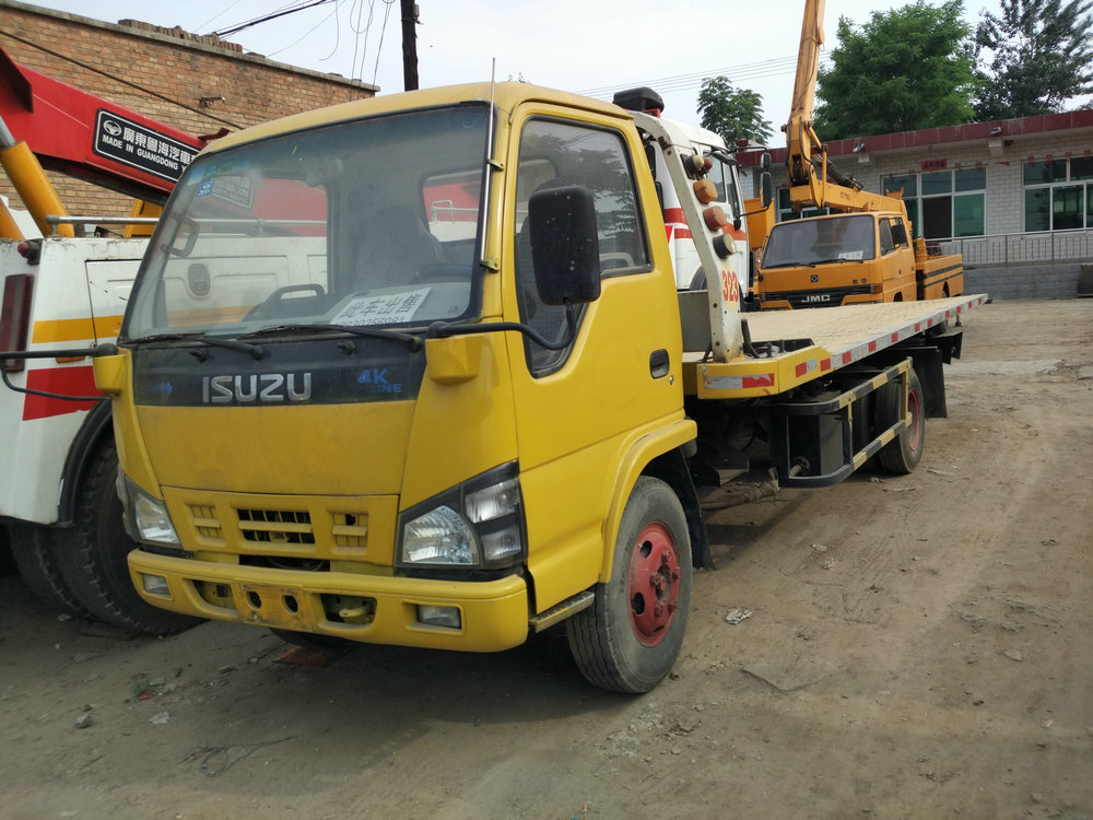 USED ISUZU road wrecker towing truck for rescue FOR SALE