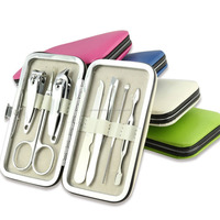 Color Pedicure Manicure Set Portable Nail Clippers Cleaner Cuticle Grooming Kit /Manicure & Pedicure Sets