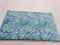Indian Pure Cotton Hand Block print Cotton Fabric/Indigo Floral Print Cotton Fabric Lot of 50 yards Wholesale