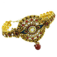 Kundan Armlet Bracelet Jewelry Goldtone Bollywood Bridal Upper Arm Jewelry Gift For Her- ARM381