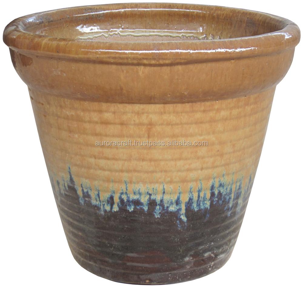 Large Glazed Ceramic Planter. Large Glazed Ceramic Garden