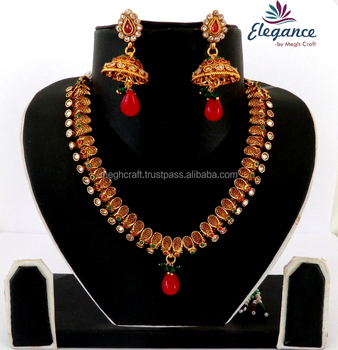 Antique Designer Jewelry Indian Artificial Necklace Sets