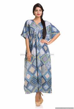 4050f756b9 Indian Floral Ethnic Gown Bohemian Maxi Plus Size Decor Boho Bikini Cover  Beach Wear Sleep Wear