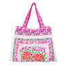 White Rabbit Tote Bag HMONG Cloth Strap Handbag Fair Trade Handmade Thailand