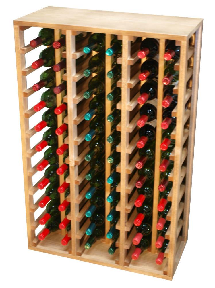 Botellero de madera capacidad 60 botellas otros muebles - Botellero de madera para vino ...