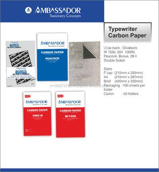 Typewriter carbon paper