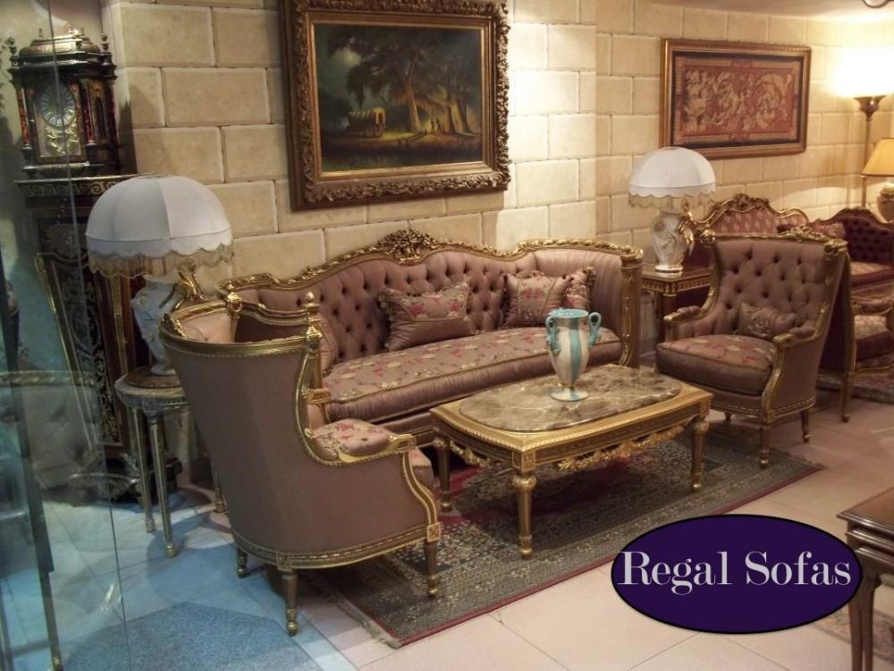 Luxe antieke mauve roze bloemen traditionele sofa bank for Indisches sofa