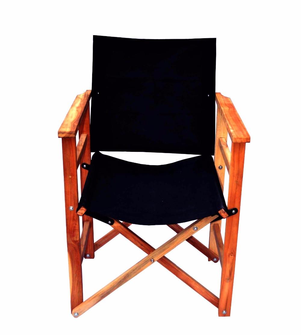 Esszimmer Höhe Camping Stuhl Holz Schwarz Finish Außen Strand Klapp  Direktor Stühle Leinwand Klappstuhl Mit Sitzbezug