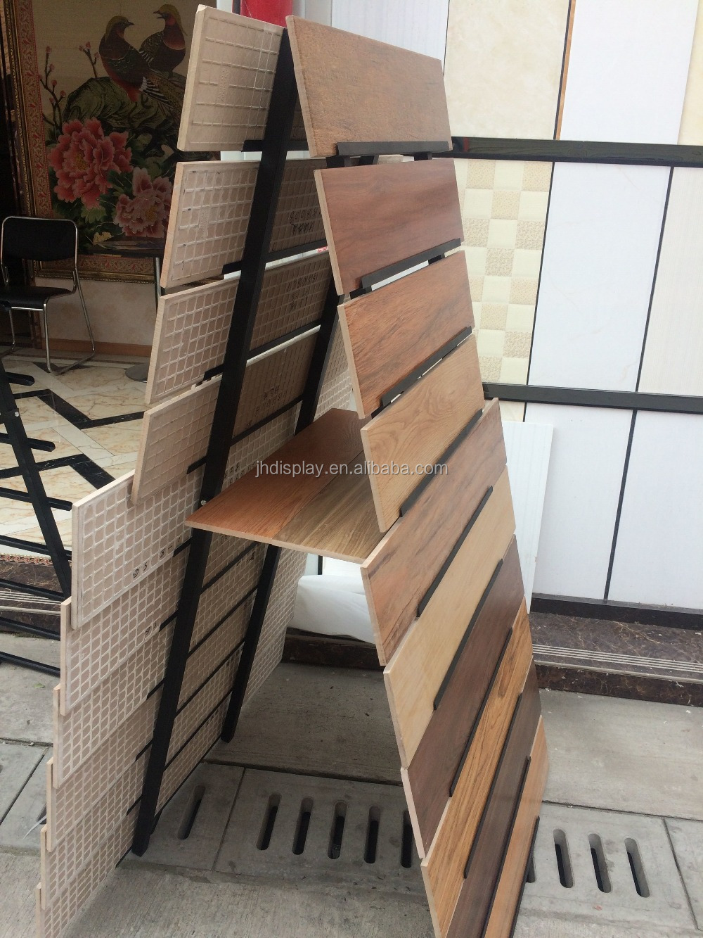Tile store or showroom promotion progressive film ceramic tile tile store or showroom promotion progressive film ceramic tile display stand dailygadgetfo Image collections