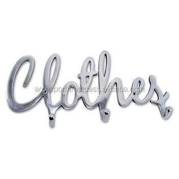 Clothes Alphabet Metal Wall Hangers