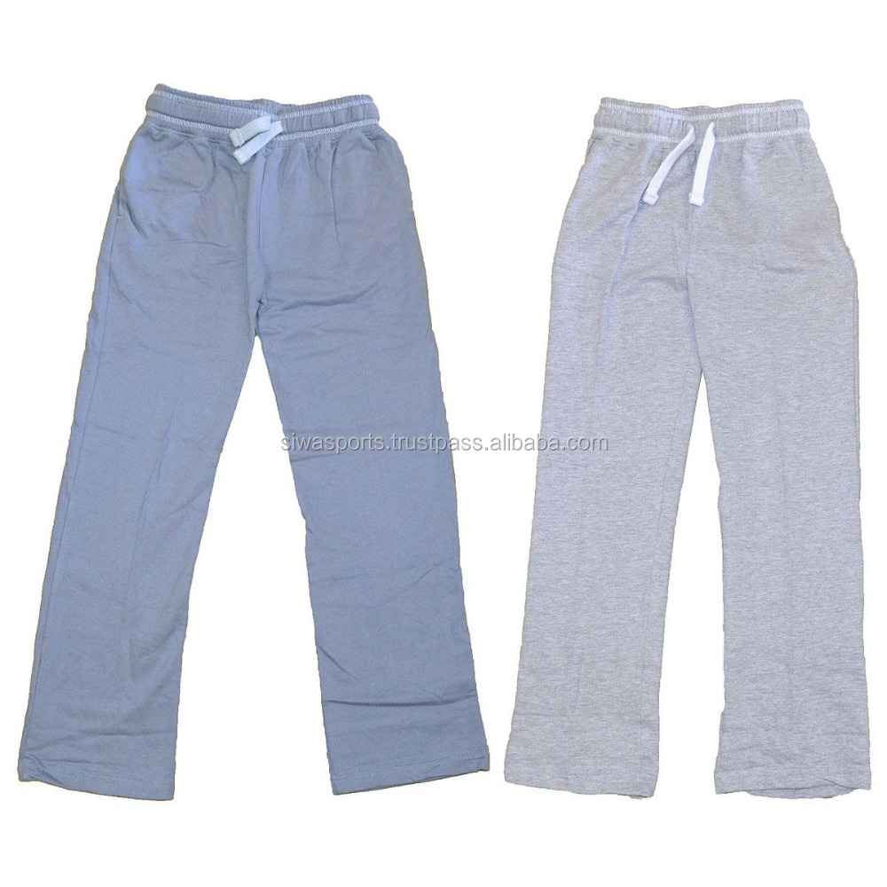 Cotton / Polyester Contrast Gusset Fleece Mens Sports Trousers