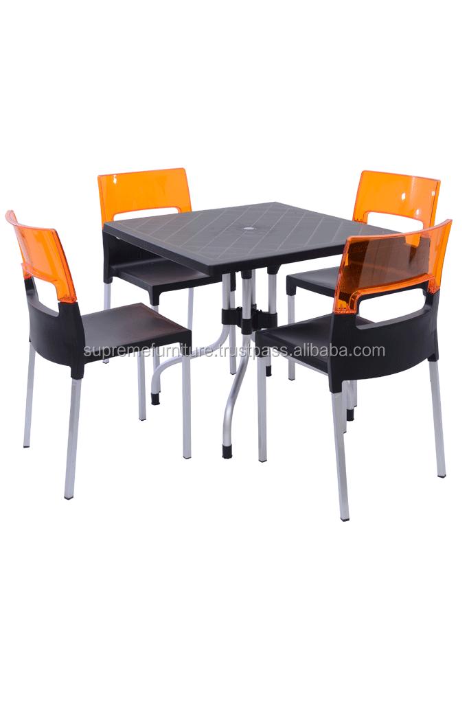 Moins Cher Empilable Et Portable Maison Restaurant Cuisine Café Mobilier De  Jardin Moderne En Plastique Table À Manger Et Chaise De Salle À Manger - ...