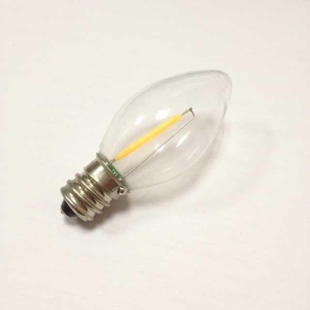 e12 1w 2200k c7 dimmable filament led bulb etl c7 led filament lamp