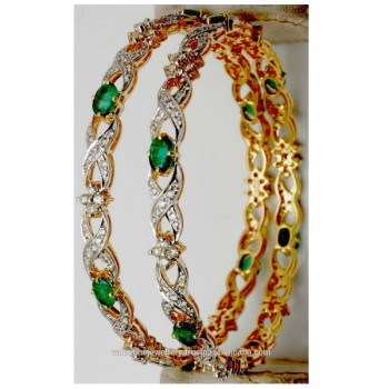latest category bangles designs jhumkas bangle choker diamond jewelry set jewellery emerald