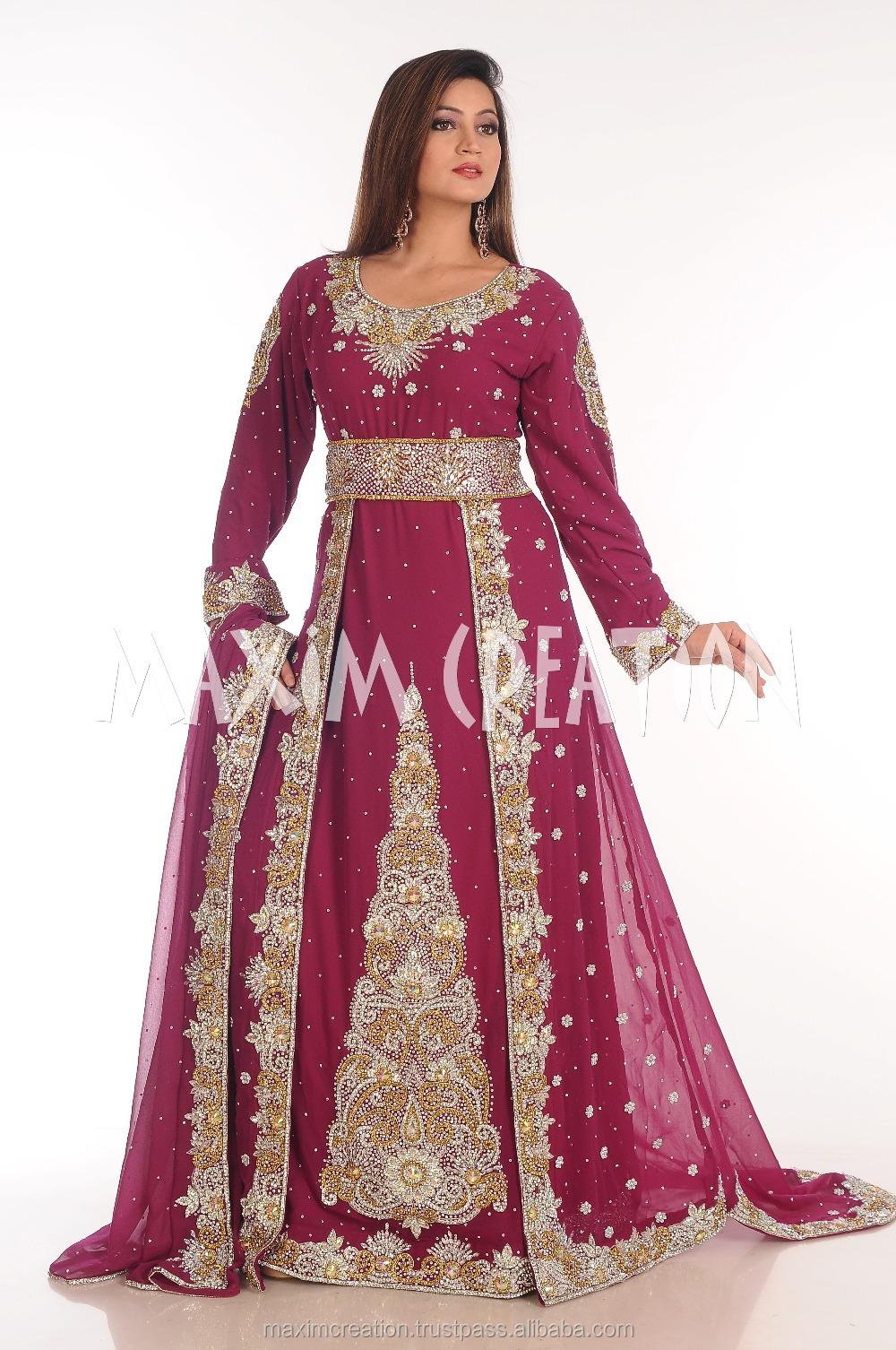 Exclusive Fancy Moroccan Kaftan Arabian Wedding Gown Buy
