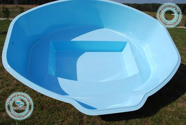 Polyester zwembaden zwembad glasvezel zwembad ozzy 2 85 for Mini zwembad