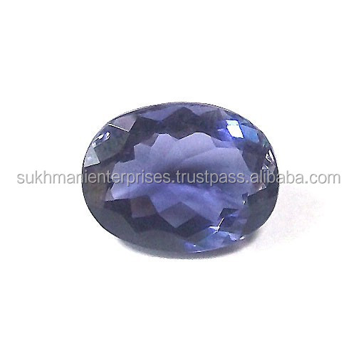 Natural oval cut Iolite 5.45 carat natural stone authentic gemstones