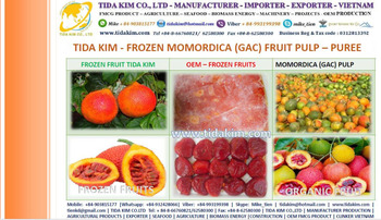 Frozen Momordica Gac Fruit Pulp Tida Kim Manufacturer Oem Vietnam Fresh  Organic Puree Organic Gac Juice Powder Frozen Puree - Buy Frozen Gac  Momordica