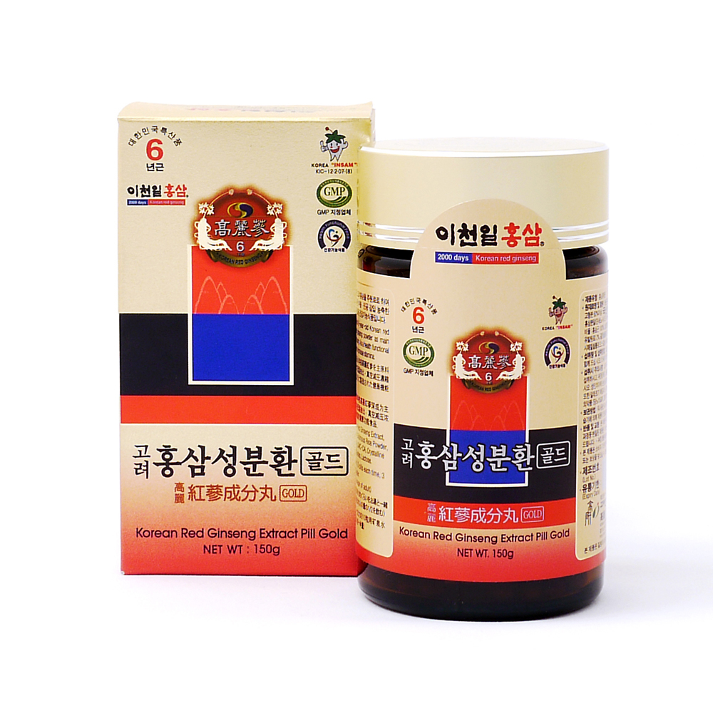 2000DAYS Korean Red Ginseng Extract Pill Gold