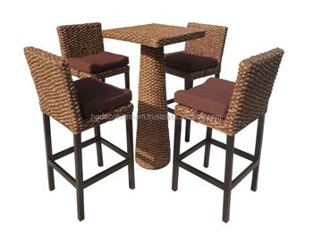 Molto bello hight tavolo e sgabello da bar sedia in giacinto d