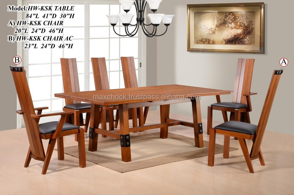 Medieval Europe Wood Dining Table Chairs KSK