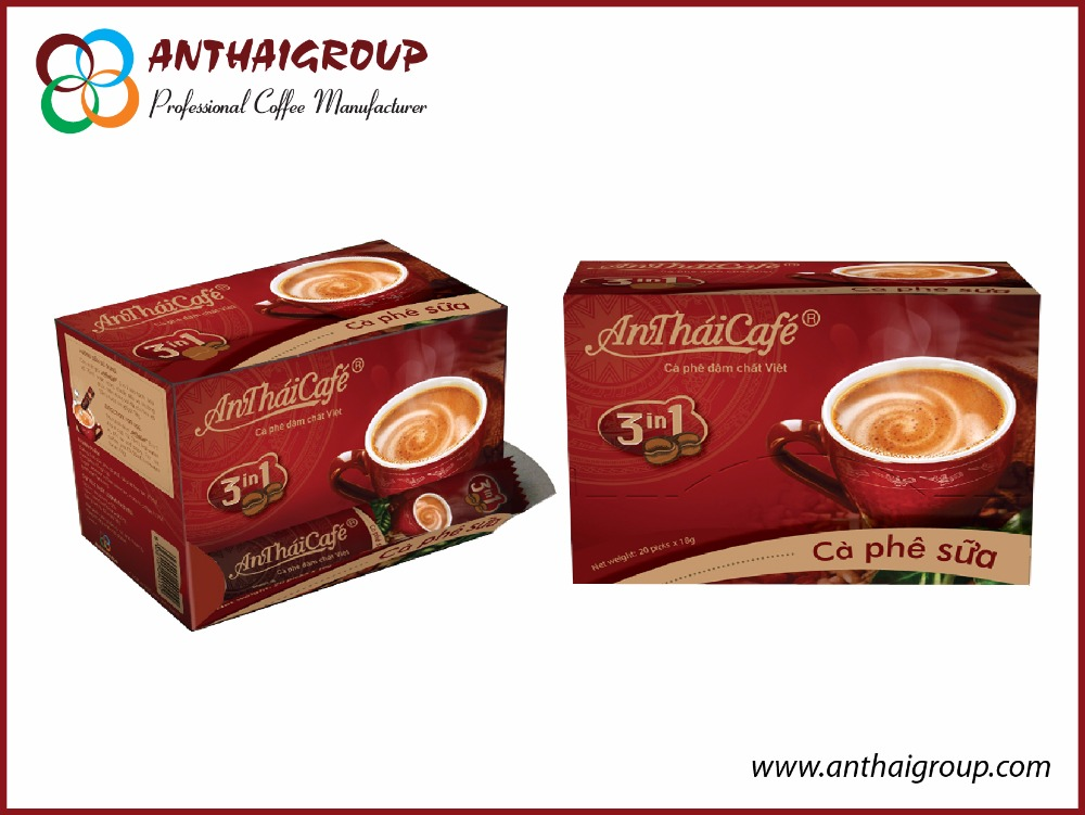 Coffee Mix 3 in 1 Brand Anthai origin Vietnam