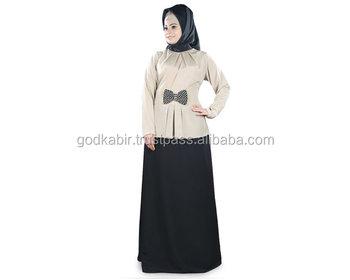 4c963181202 Women s Stylish Abaya With Embroidered Bow