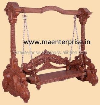 Indian Tradtional Wooden Jhoola Swing Furniture