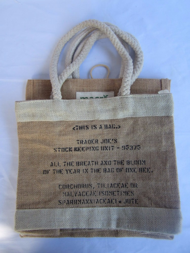Widely used Natural eco-friendly handled jute Tote bag