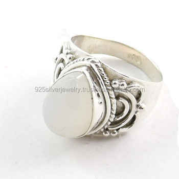 Sterling Silver Jewelry Nepali Silver Rings Women Jewelry Gemstone