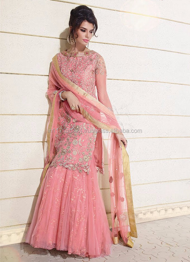 96cf0b2c037 Lovely wedding wear georgette floor touch anarkali suits - Pakistani salwar  kameez 3 picec suit - Online salwar kameez