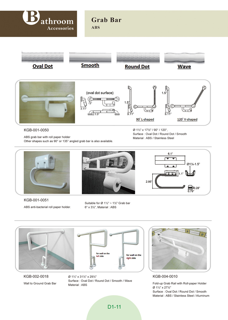 Bathroom Safety ABS Anti Bacterial Folding Handicap Toilet Grab Bar With  Tissue Holder